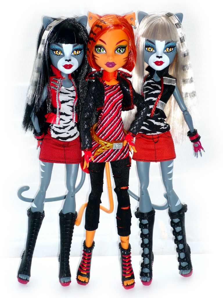 Purrsephone And Meowlody With Toralei Stripe Monster High Monster High Dolls Ever After Dolls
