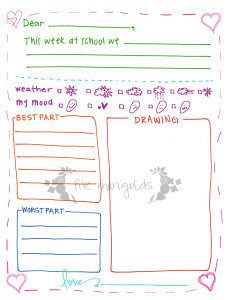 Free Printable Letter Writing Templates For Grandma Pen Pal