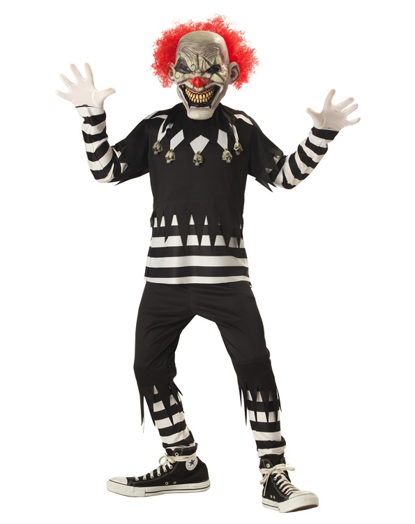 Creepy Clown Scary Clown Costume Boy Halloween Costumes Scary Kids Halloween Costumes
