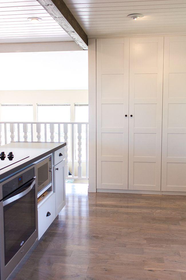 Pax als Küchenschrank - perfekt eingebaut mit Leisten #ikea #küche - ikea küchen beispiele