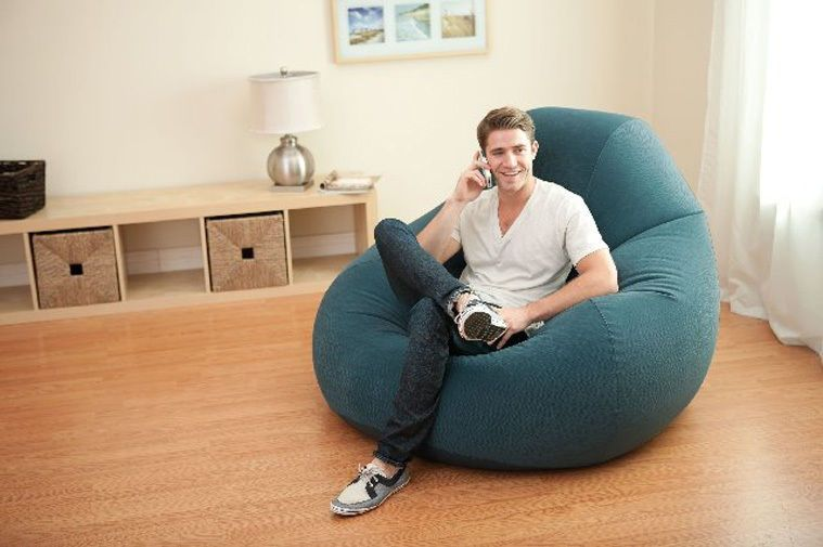 Intex Inflatable Deluxe Lounge Beanless Lounger Bag Chair