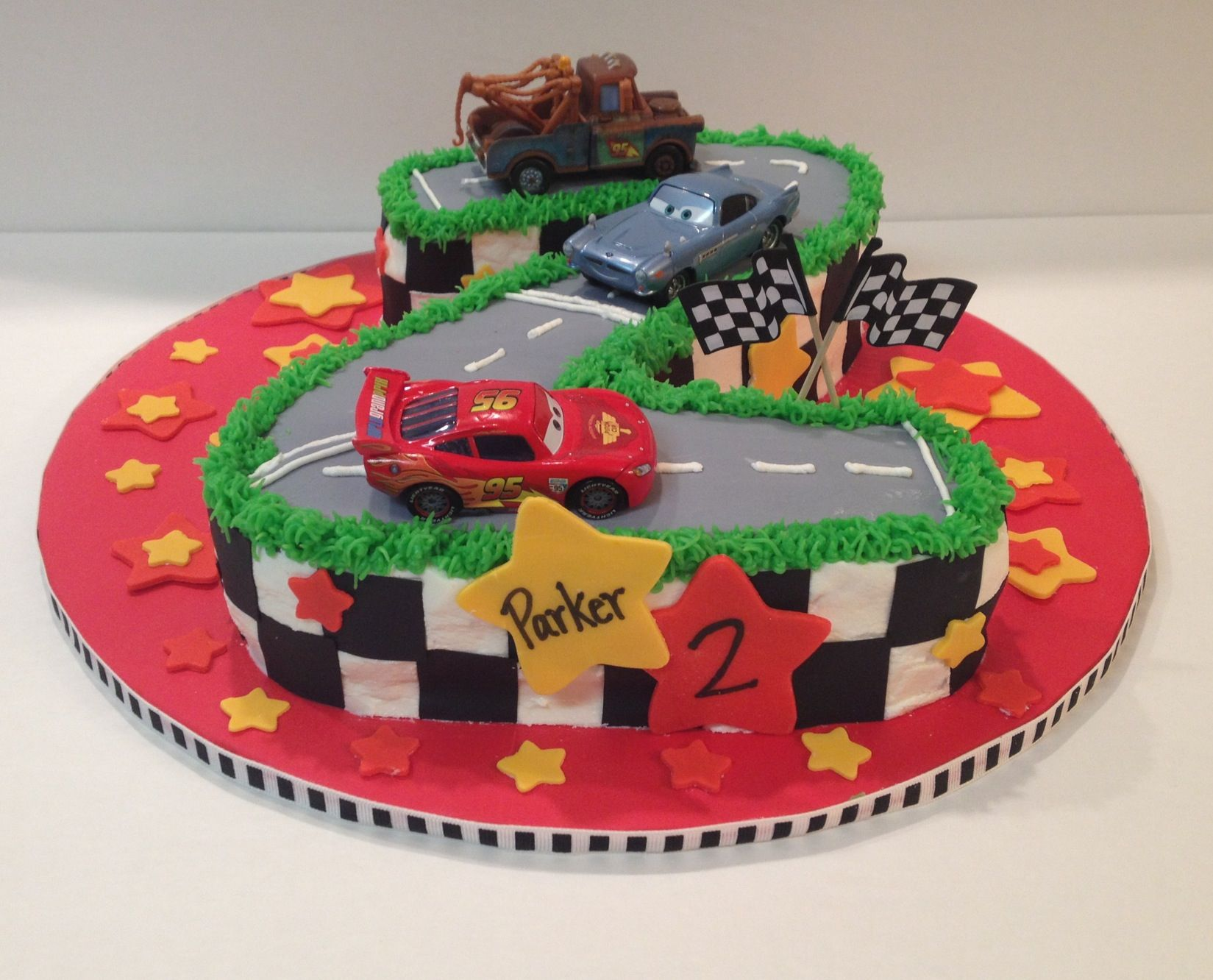 Disneys Cars Cake For  Year Old Birthday By Jillees Goodees - Birthday cake cars 2