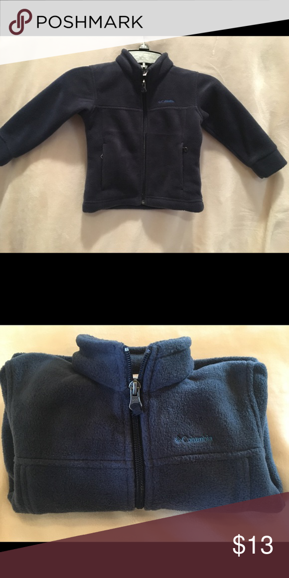 Navy blue 2T Columbia Jacket Navy blue Columbia jacket for toddler! Worn maybe once.. not actually worn, but kept in bag in hopes temps would drop in the south to wear. Alas, it didn't. 😩 Columbia Jackets & Coats