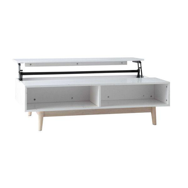 couchtisch aus holz mit funktion wei oder grau artic 149 wohnen table coffee table. Black Bedroom Furniture Sets. Home Design Ideas