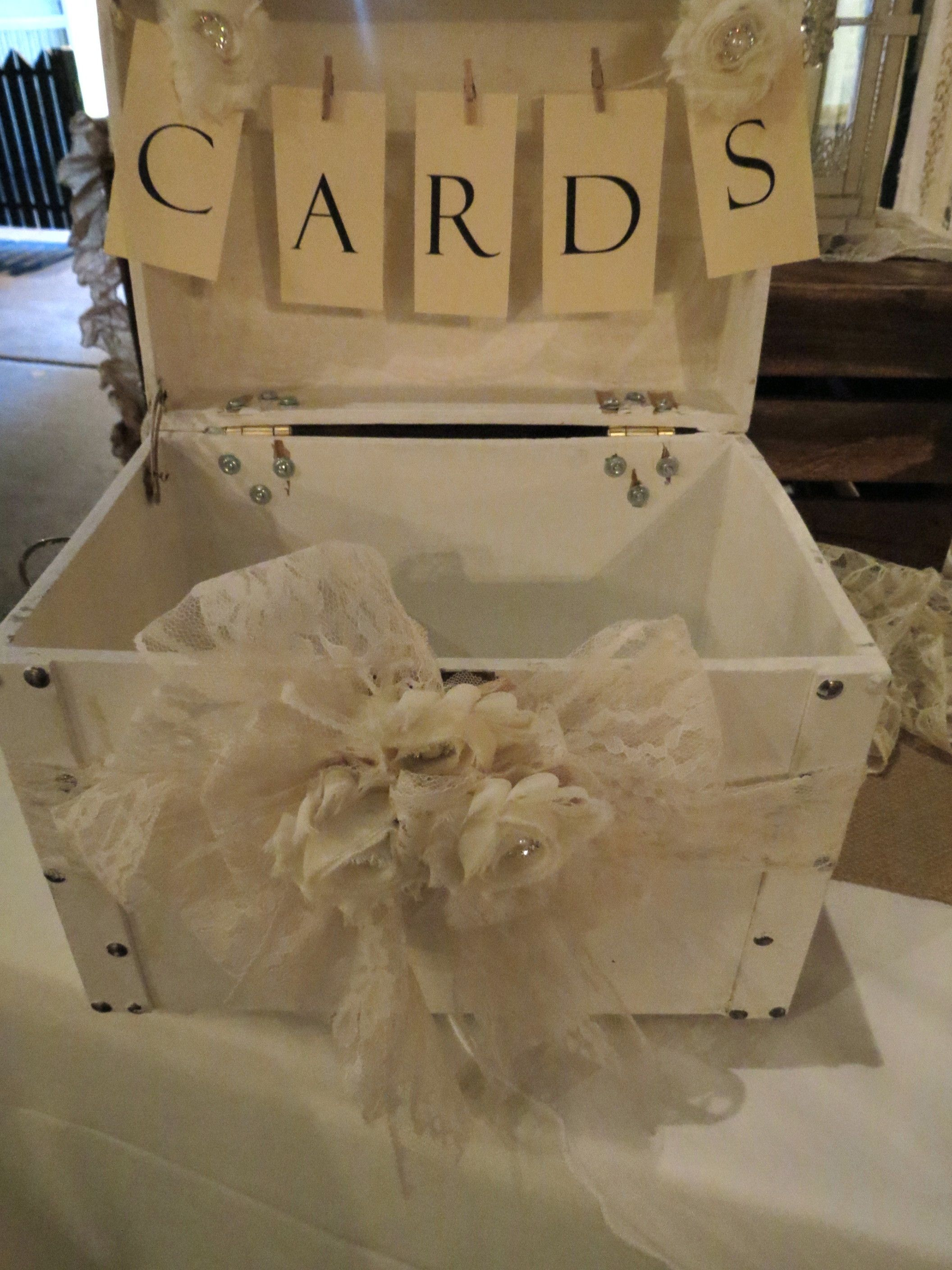 Shabby Chic Wedding Card Box By Its Personal Staging And Design Milton Fl