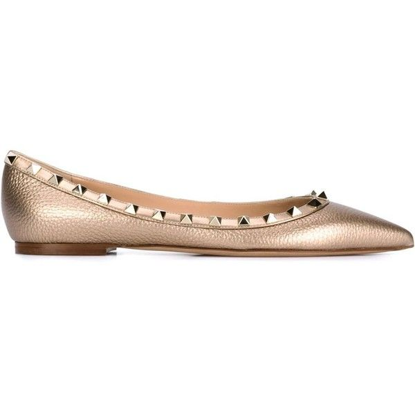 Valentino Metallic Pointes-Toe Flats