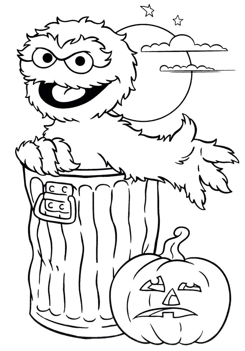 Oscar The Grouch Halloween Coloring Page Free Halloween Coloring Pages Halloween Coloring Sheets Halloween Coloring Pages Printable