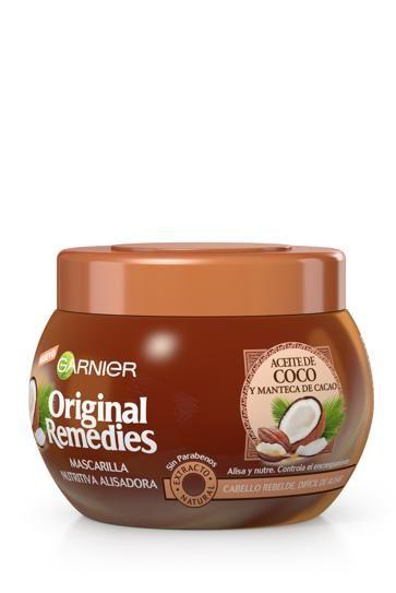 Mascarilla Original Remedies De Garnier Con Aceite De Coco Y