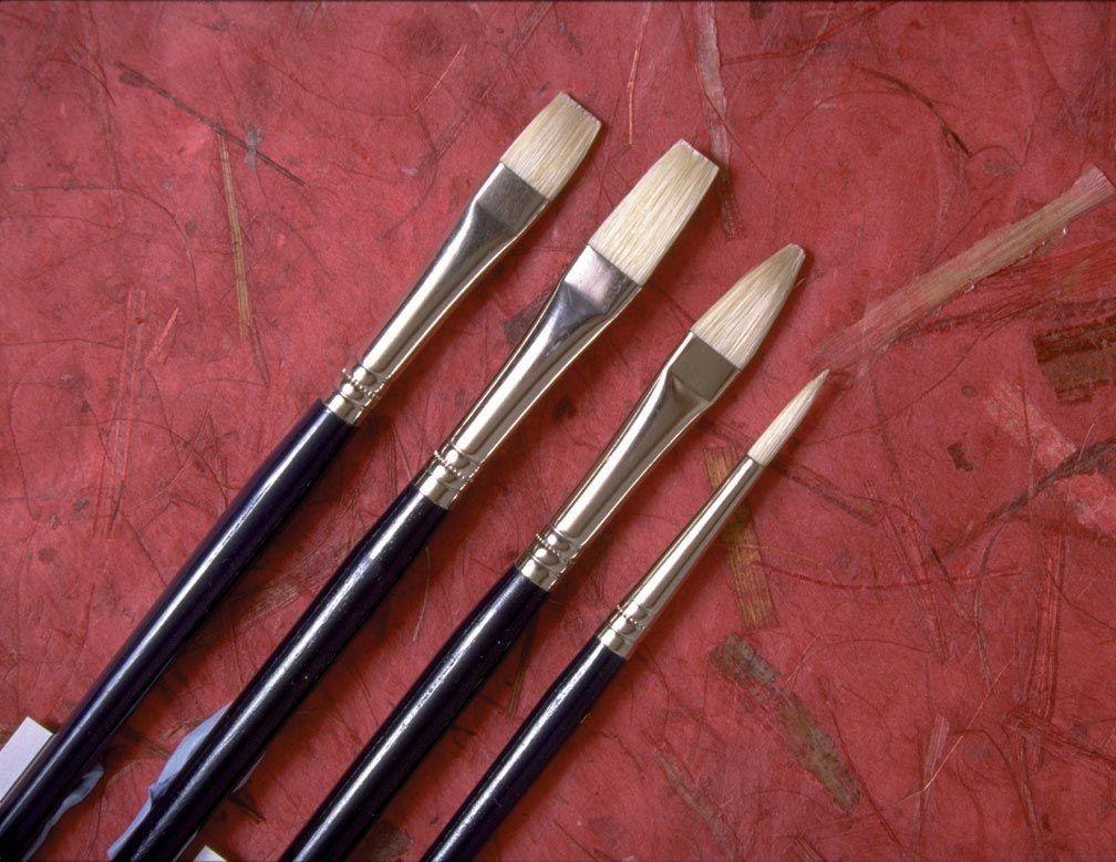 Chinese Bristle Filbert Brush (Set of 2)