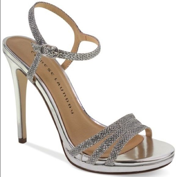 Chinese laundry silver heels Love the item but not the price   Make an  offer Chinese Laundry Shoes Heels 51c6f18c8373