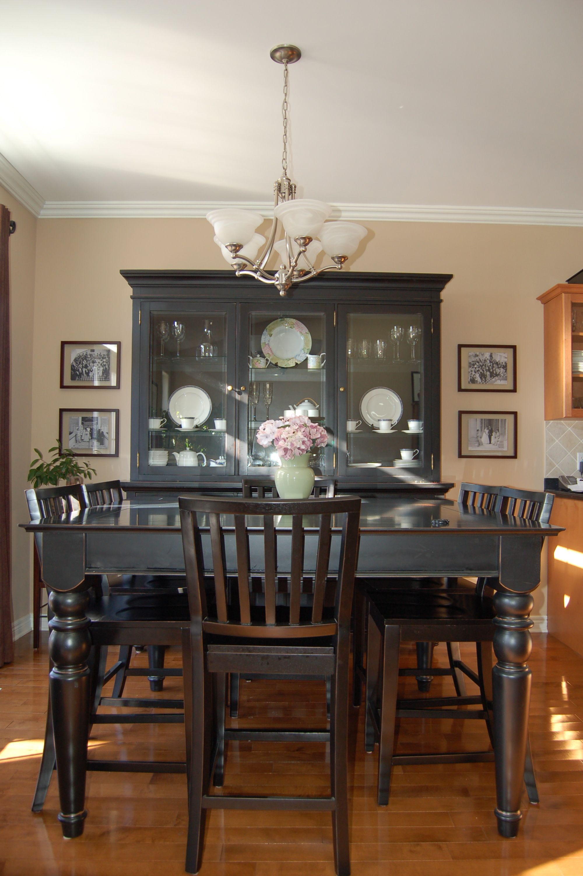 Dining Room Furniture Hutch Simple I Love My Dining Roombuffet And Hutch Dining Table And Chairs Inspiration