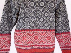 VTG-L-L-BEAN-NORWAY-034-SNOWFLAKE-034-100-WOOL-Cardigan-Sweater-Womens-Medium-M