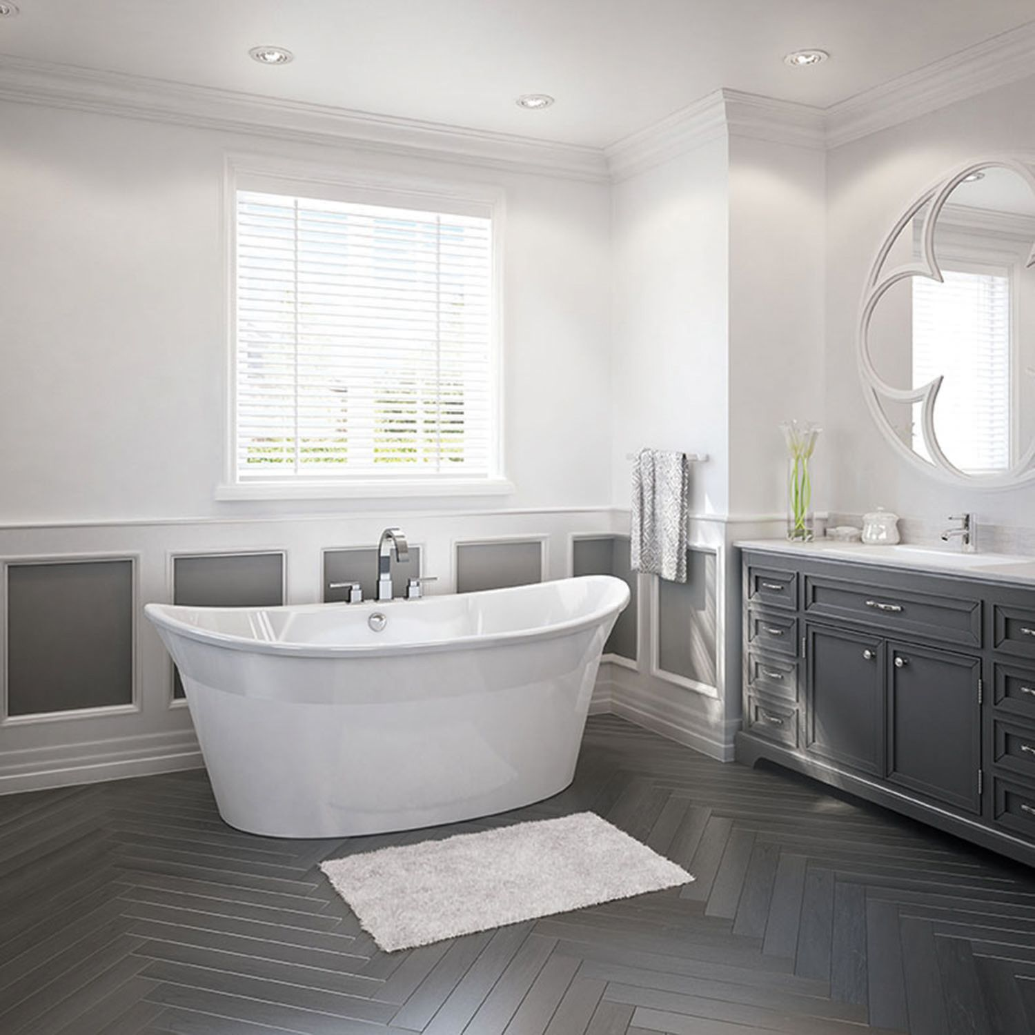 designed long bathrooms. Designed for optimal comfort  the Orchestra 6636 Freestanding Tub has everything you need to relax