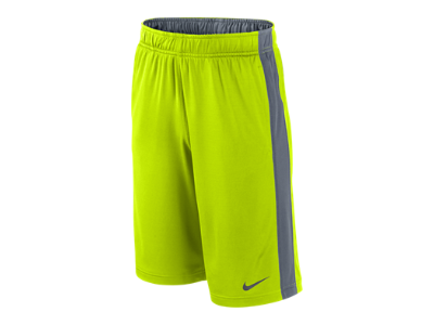 Nike Fly Boys' Training Shorts Colors: Neon Green/Gray, Red/Orange