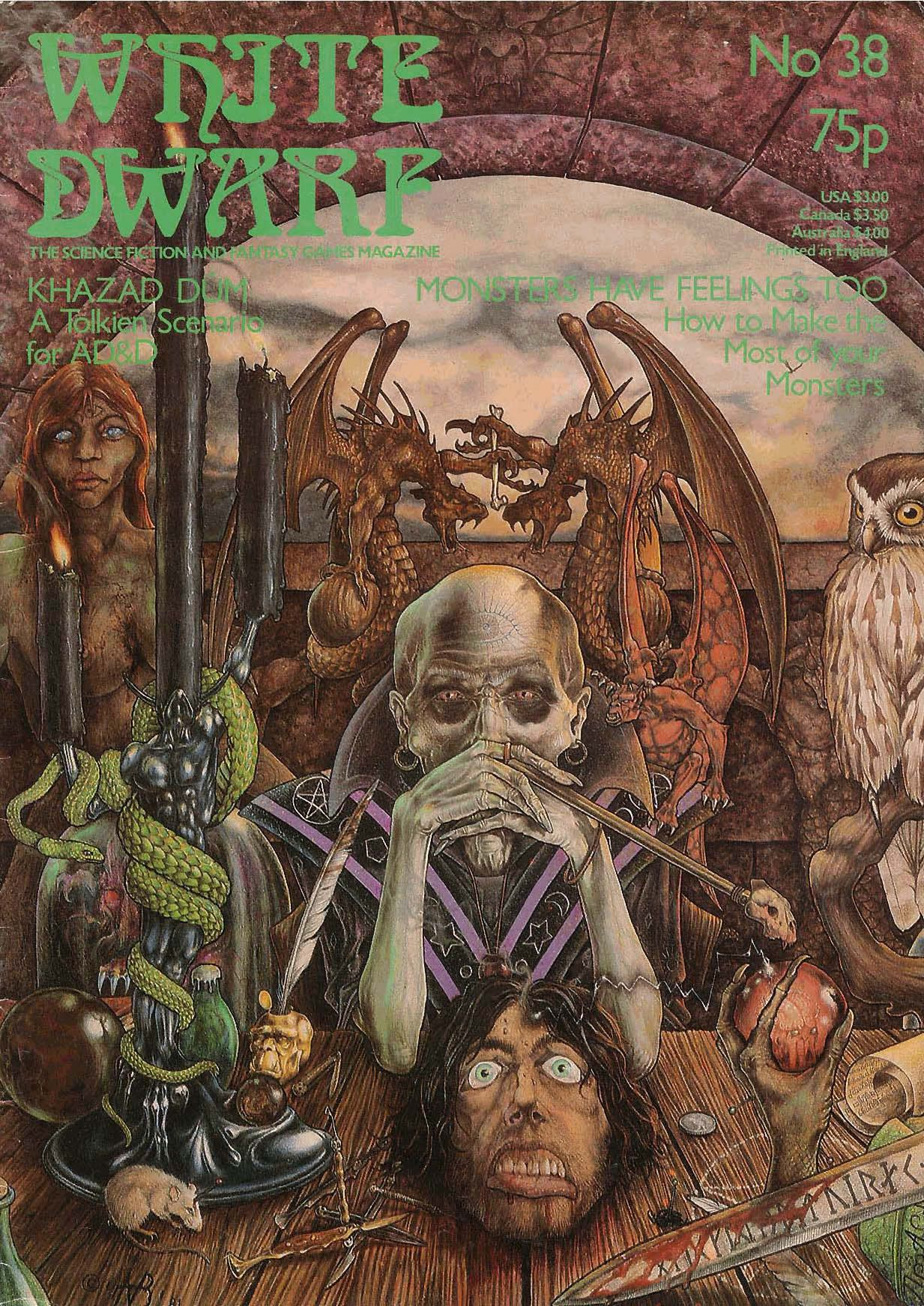 White Dwarf 38 (1983) High fantasy, Pen and paper games