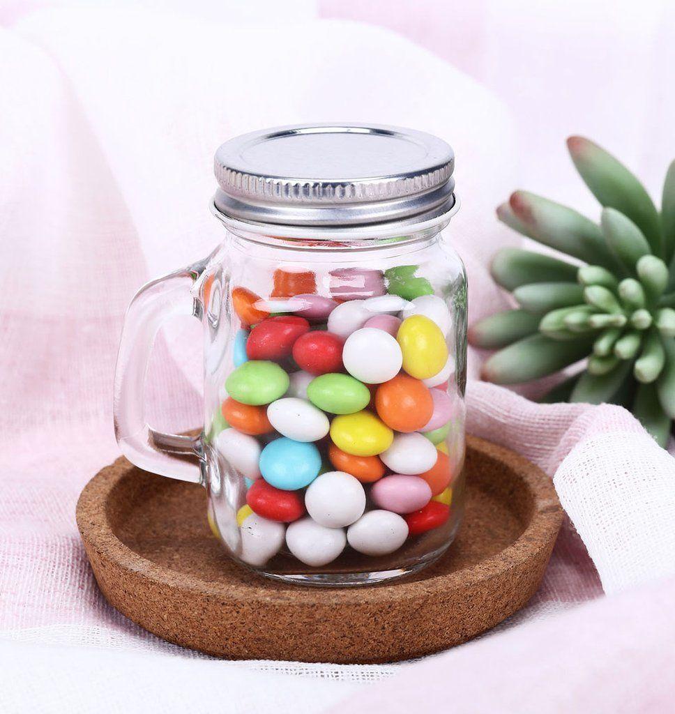 12 Pack 4 Oz Clear Rustic Bridal Wedding Mason Jars With Handles Mason Jar Wedding Gifts For Wedding Party Mason Jars With Handles