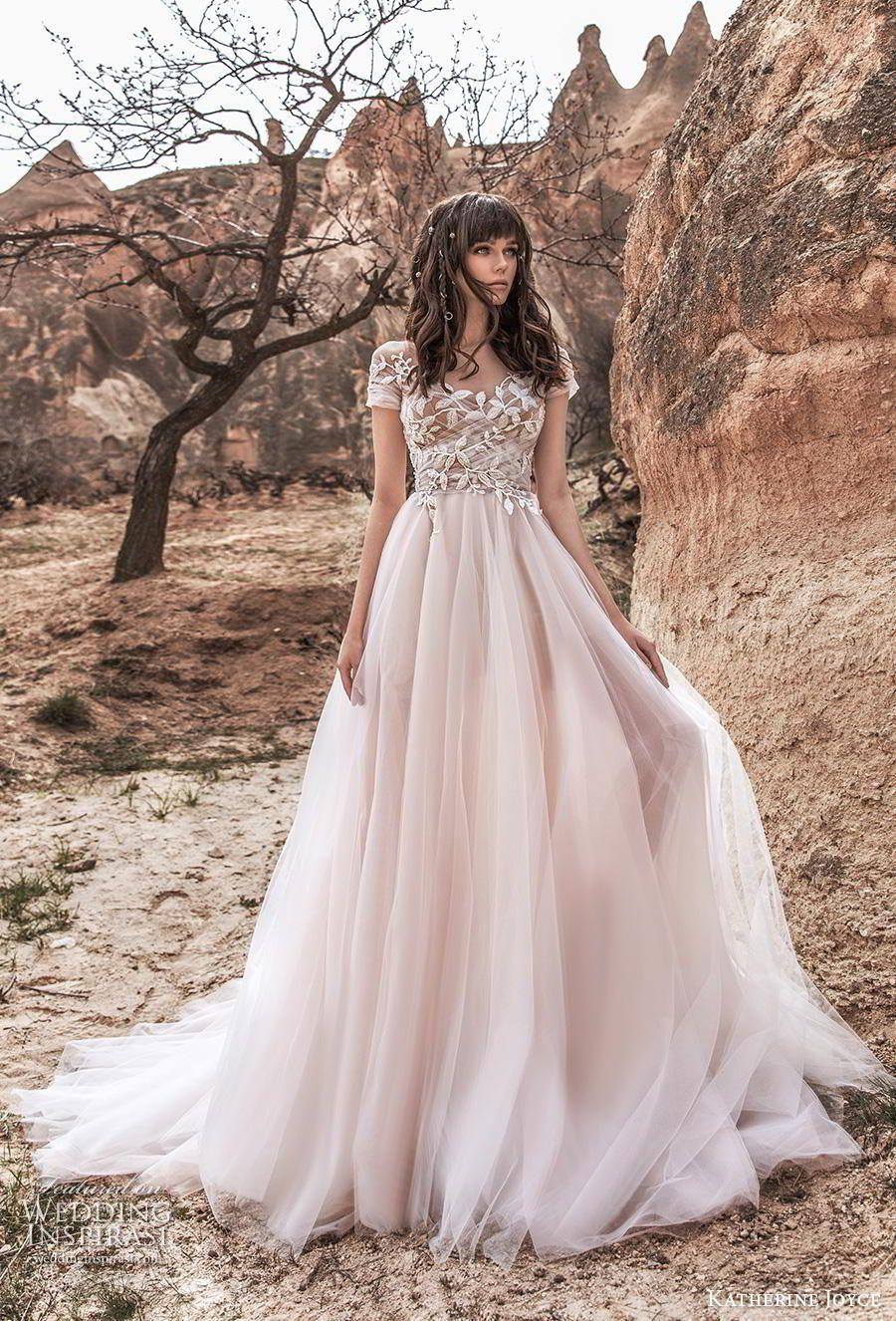 Katherine Joyce 2020 Wedding Dresses Wind Desert Bridal Collection Wedding Inspirasi Wedding Dress Guide Bridal Dresses Sheer Wedding Dress [ 1326 x 900 Pixel ]