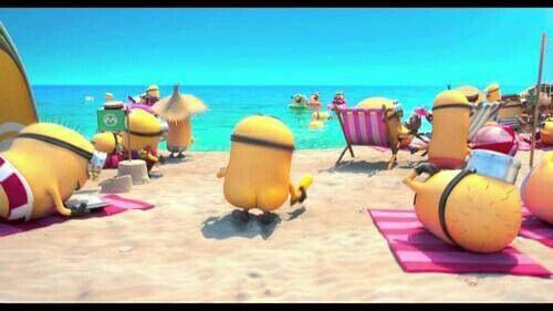 Minions Booty Beach