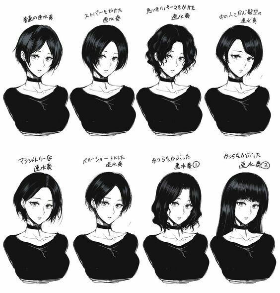 Girl Hairstyle Reference: Art Sketches, Drawings, How
