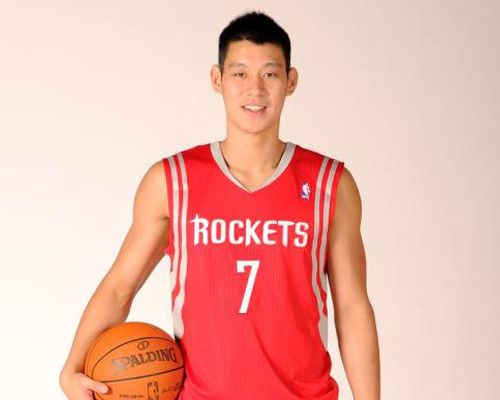 Jeremy Lin With His New Houston Rockets Jersey Number 7 Jeremy Lin Athletic Tank Tops Lins