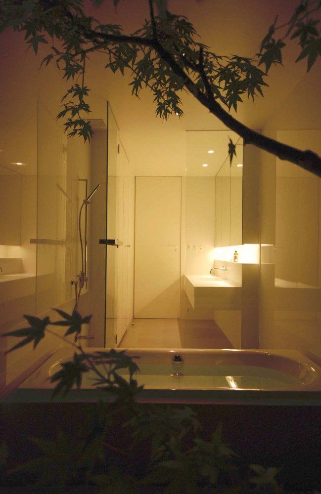 Galer a de casa de cubierta horizontal shinichi ogawa for Arquitectura banos modernos