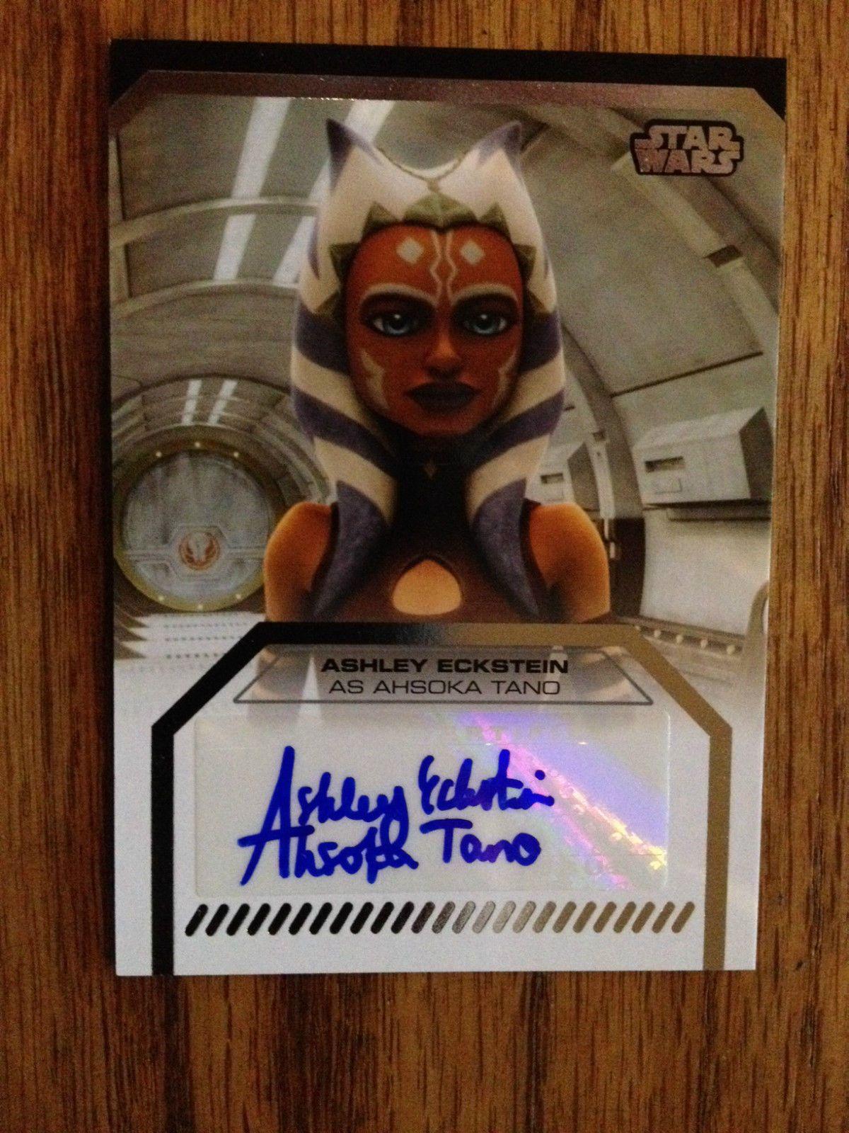 NEW! Topps STAR WARS Galactic Files 2 ASHLEY ECKSTEIN AHSOKA Autograph Card Auto