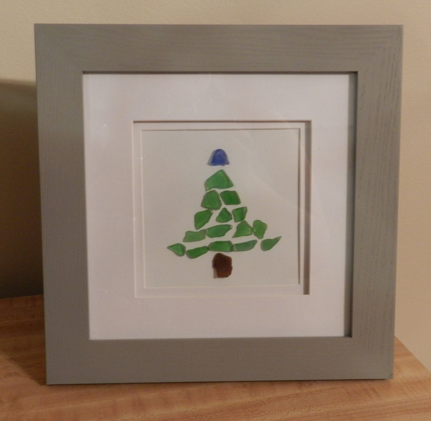 Sea Glass Christmas Tree Framed Art By Wildreflections On Etsy