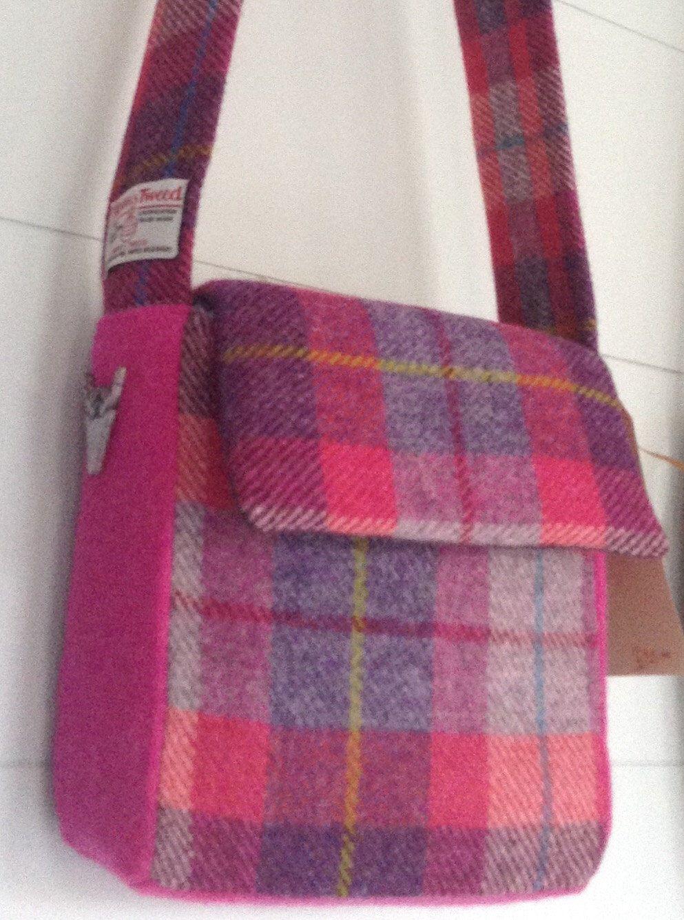 Harris Tweed Crossbody bag by TheHighlandKooCo on Etsy https://www.etsy.com/listing/488672500/harris-tweed-crossbody-bag