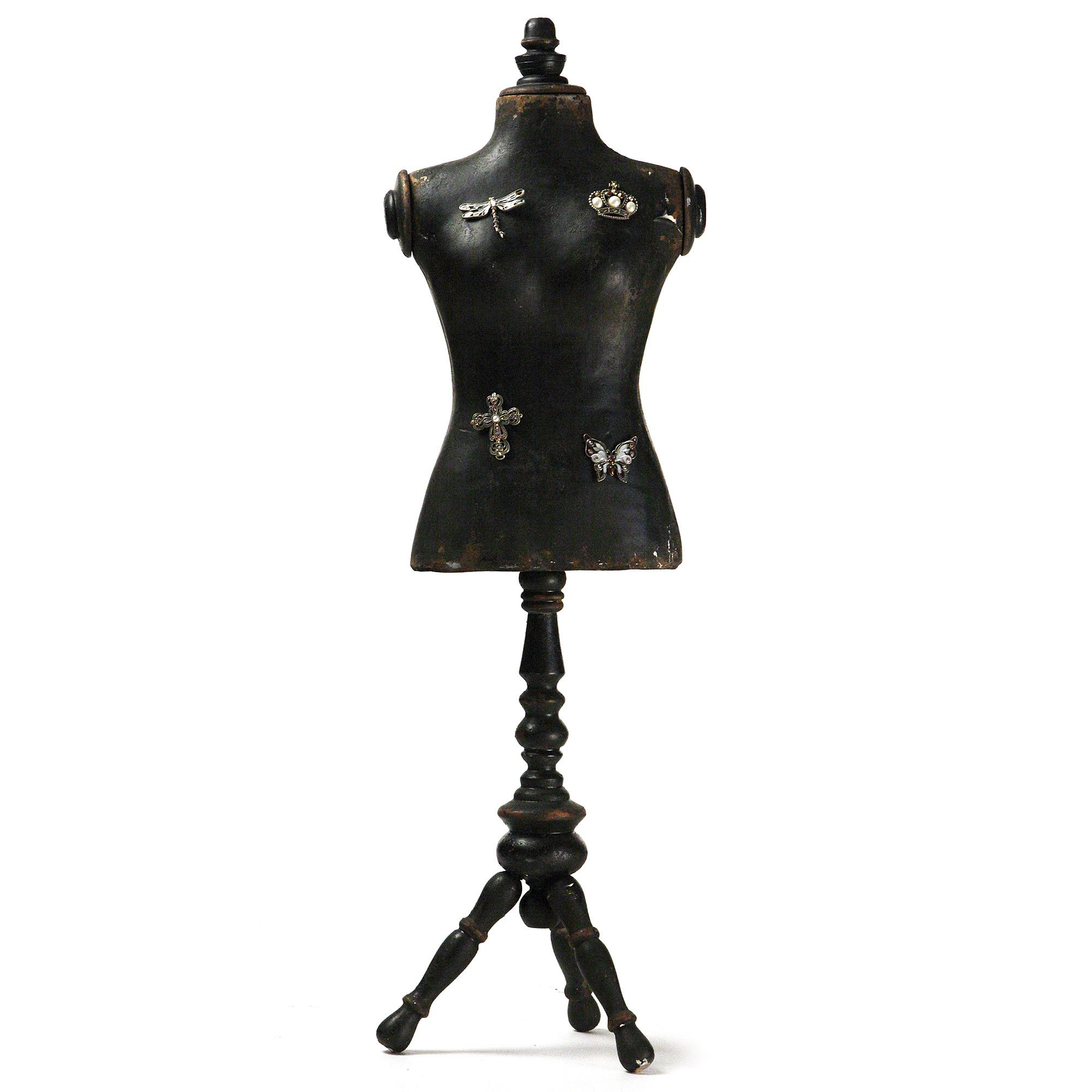 Show off your creative side by using this decorative dress form to