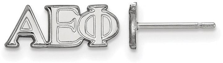 Zales Alpha Epsilon Phi Sorority Stud Earrings in Sterling Silver evM1FE5