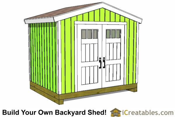 10x8 Shed Plans 10 Wide By 8 Deep Shed Plans Shed Plans Shed Shed House Plans