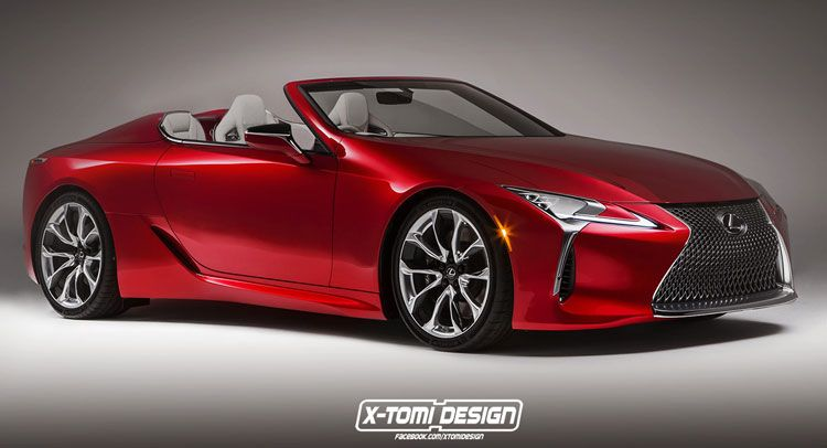 Lexus Lc 500 Puts On Convertible Outfit Carscoops Lexus Lc Lexus Convertible Lexus Cars