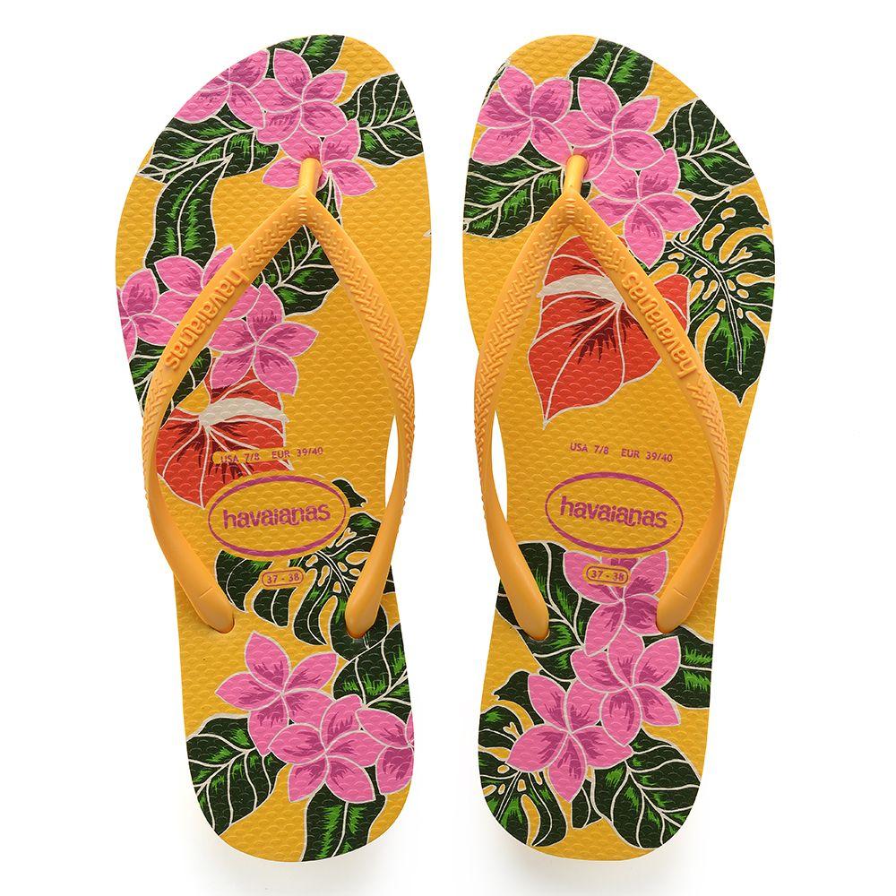 fe140b2fe Havaianas Slim Floral Amarela