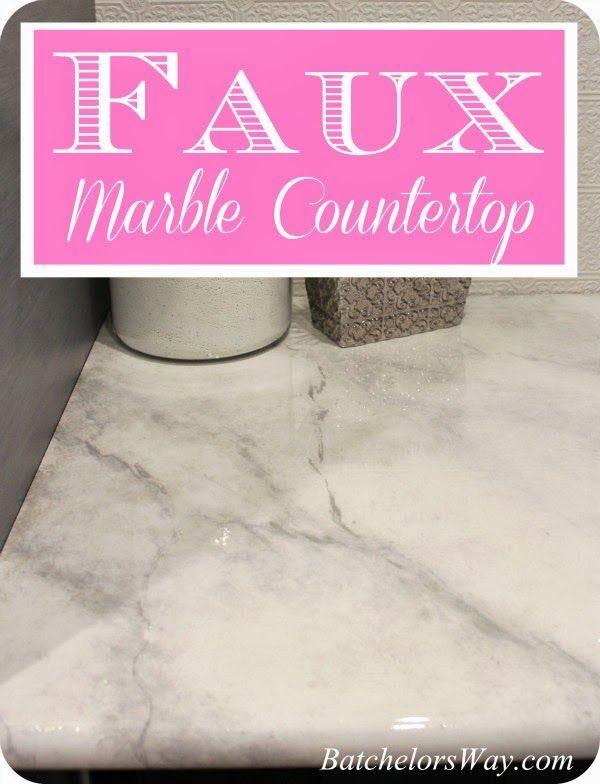 Diy Countertops Faux Painting Glossy Sealant