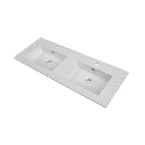 Plan vasque double Storm Céramique 1210 cm salle de bain - Plan Electrique Salle De Bain