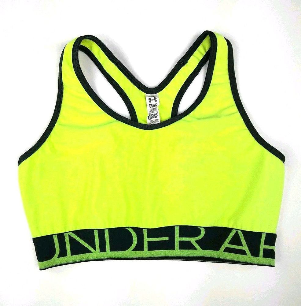 fc55e9eeb833 Under Armour Womens Compression Sports Bra Top Size Small Neon ...