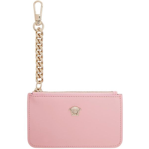 4a13b61ce44 Versace Pink Medusa Coin Pouch ( 265) ❤ liked on Polyvore featuring bags