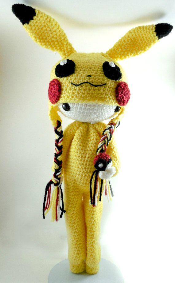 Pikachu - Amigurumi Doll Crochet Pattern PDF | Amigurumi, Häkeln und ...