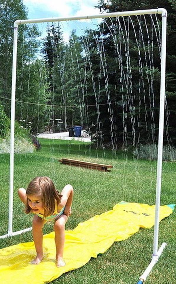 parque de agua DIY ducha para jardin con tubos de PVC y manguera ...