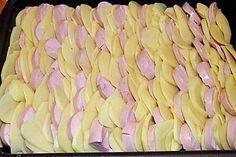 Sahniges Kartoffel - Fleischwurst - Gratin #carneconpapas