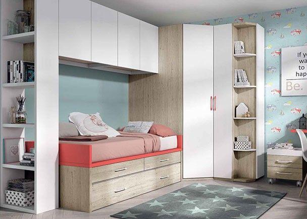 Habitaci n infantil con armario rinc n y compacto nido novedades de mueble juvenil - Armario habitacion infantil ...