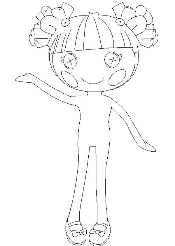 hoe to draw lalaloopsy coloring page - Lalaloopsy Coloring Pages