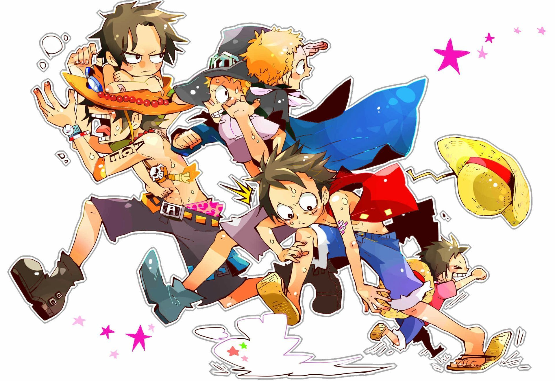 Historias Peques - Luffy,Sabo,Ace x Oc x Oc | One Piece | Fondos de