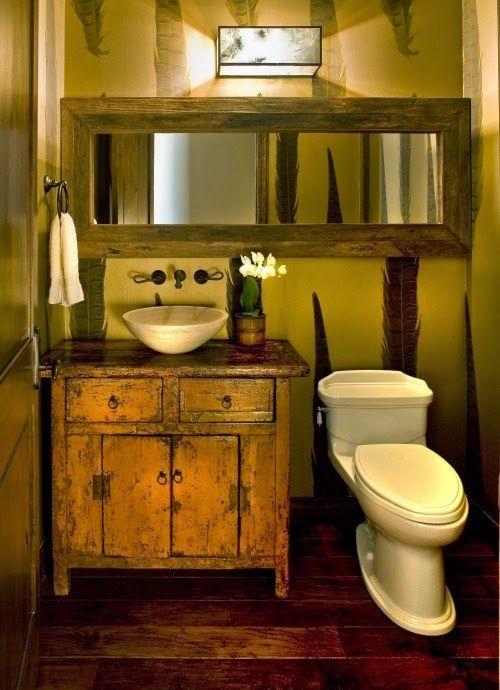 Os lavabos em estilo rústico nos trazem aconchego, tranquilidade - lavabos rusticos