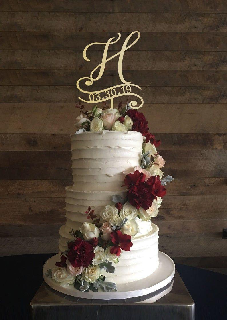 H cake topper, wedding cake topper, cake toppers for