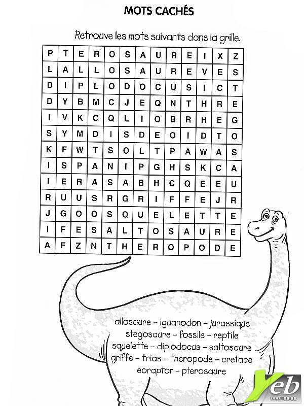 Jeux de mots a imprimer - Votre image id-3 sur UnGaVa.info   DINOSAURE FETE ENFANT ANNIVERSAIRE ...