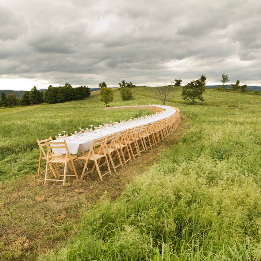 When you have more than you need build a longer table not a higher fence.  Photo of Beekman 1802 Farm in Sharon Springs, NY