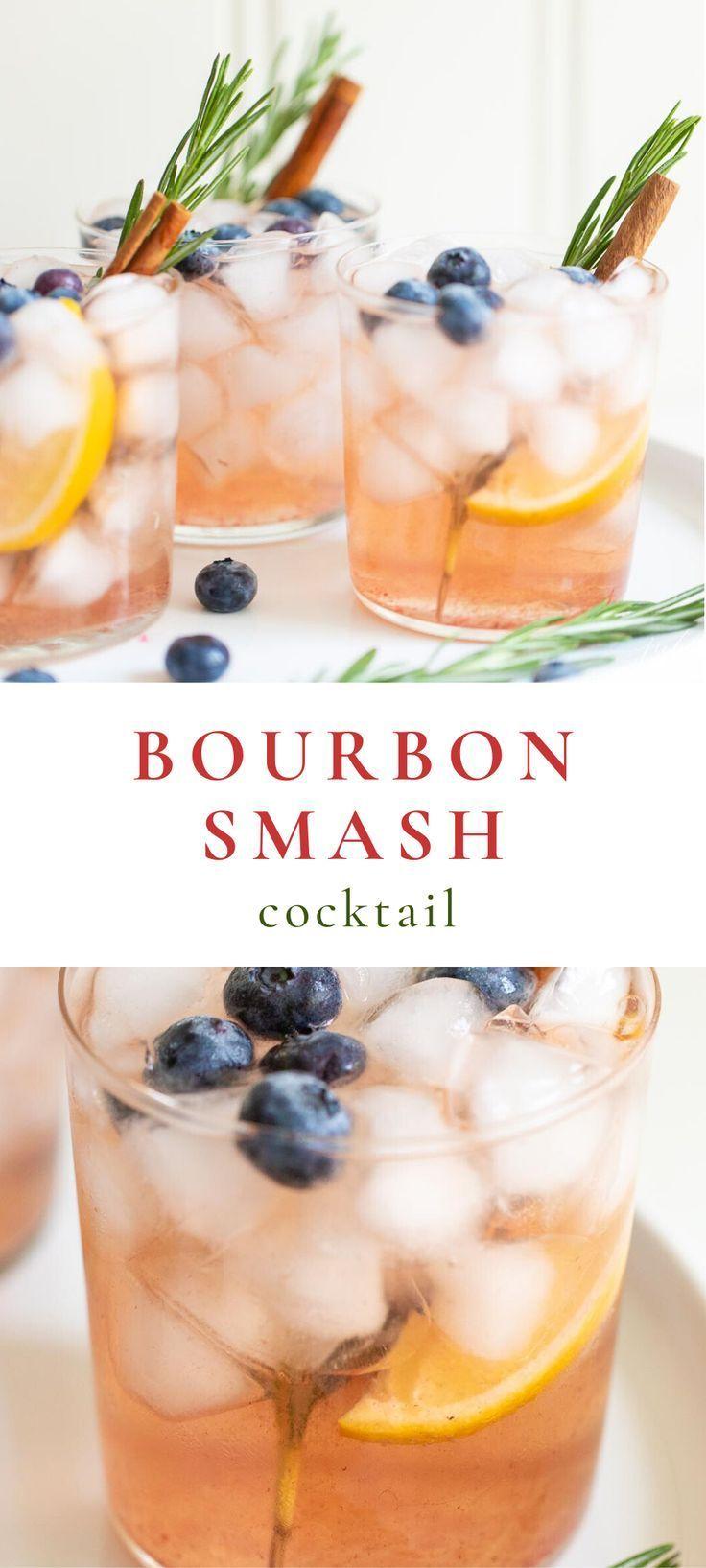 Photo of Bourbon Smash Cocktail | Whiskey Winter Smash Recipe