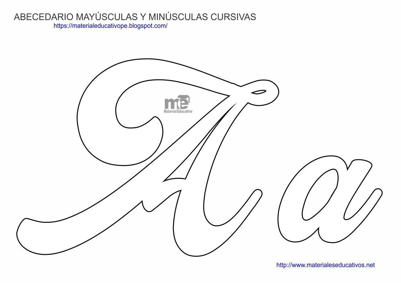 Molde De Letras Abecedario Mayusculas Y Minusculas Moldes De