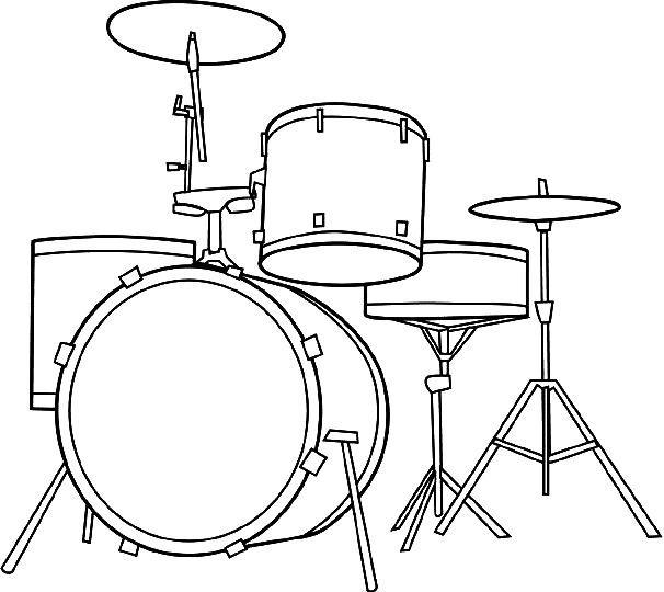Drum Set Coloring Pages Drum Cakes Pinterest Drum